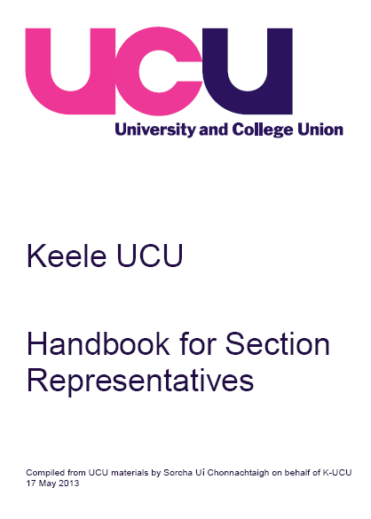 Cover of section reps handbook