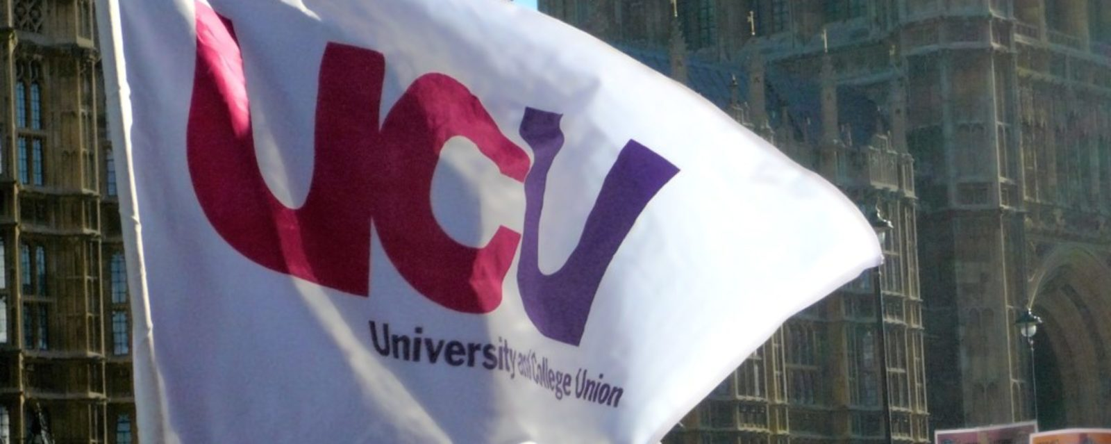 UCU Logo on a flag